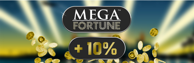 Maria gives 10% on top of the 5 million Jackpot to all its Mega Fortune Customers!